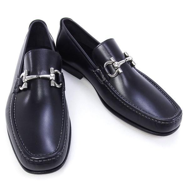 2016年春夏 サルヴァトーレ フェラガモ Salvatore Ferragamo 靴 メンズ ガンチーニ ビジネスシューズ ローファー ブラック (GIORDANO 0429416 NERO)|fontana2014