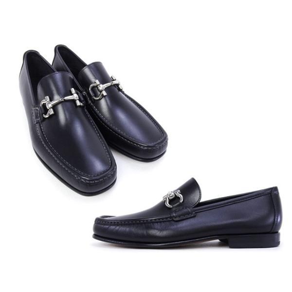 2016年春夏 サルヴァトーレ フェラガモ Salvatore Ferragamo 靴 メンズ ガンチーニ ビジネスシューズ ローファー ブラック (GIORDANO 0429416 NERO)|fontana2014|02