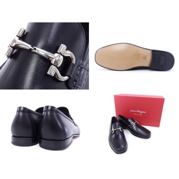 2016年春夏 サルヴァトーレ フェラガモ Salvatore Ferragamo 靴 メンズ ガンチーニ ビジネスシューズ ローファー ブラック (GIORDANO 0429416 NERO)|fontana2014|03