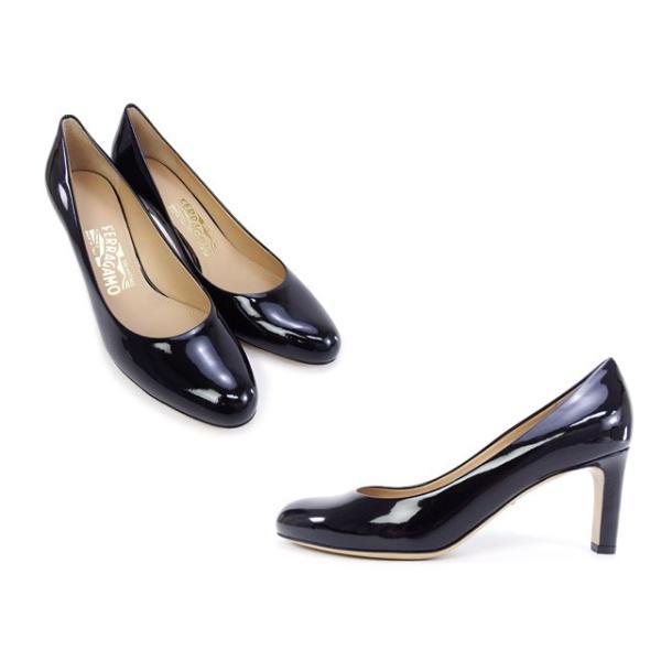 サルヴァトーレ フェラガモ Salvatore Ferragamo 靴 レディース  パンプス エナメルブラック (LEO 70 0619596 BK)