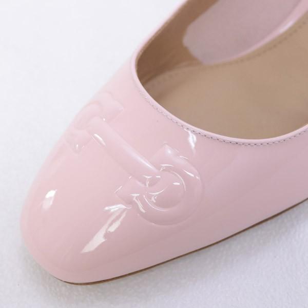 サルヴァトーレ フェラガモ Salvatore Ferragamo 靴 レディース ガンチーニ パンプス エナメルピンク (BRONI 55 0684706 BONBON) 2018年春夏
