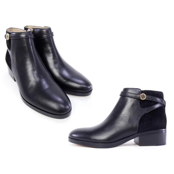 【アウトレットセール】訳あり3  トリーバーチ TORY BURCH 靴 OSSIE ANKLE BOOTIE ブーティ アンクル ブーツ ブラック6.5サイズ (31158003 001 BLACK)