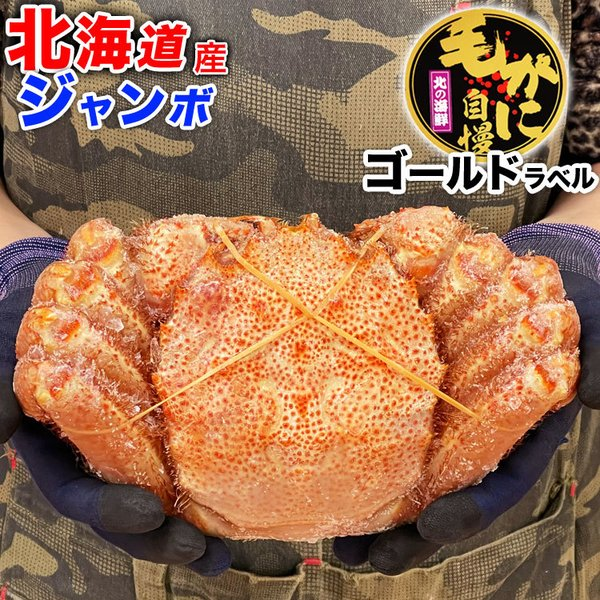 毛ガニ かに カニ 毛がに ジャンボ 約800〜1kg 1尾 冷凍 夏カニ|foodsland