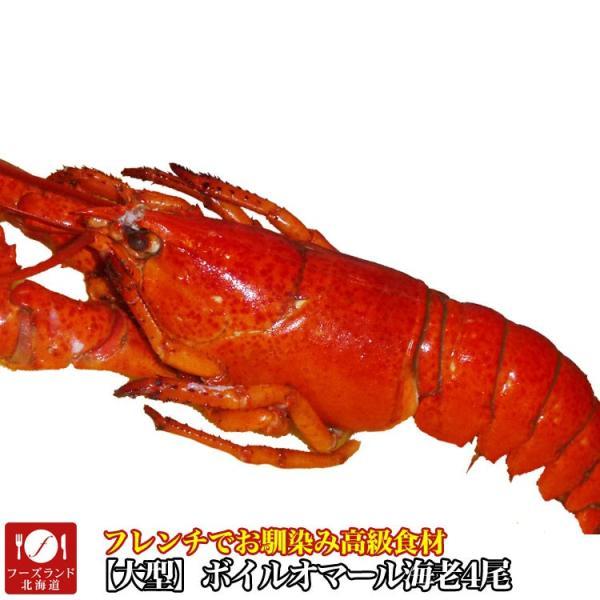 えび 海老 蝦 ボイルオマールロブスター オマールエビ Lサイズ約400g前後4尾 高級食材|foodsland