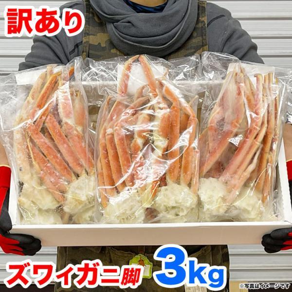 父の日 カニ ズワイガニ 脚 ズワイ蟹 かに ずわいがに 足 約3kg 特大  ボイル 多少脚折込 冷凍 夏カニ|foodsland