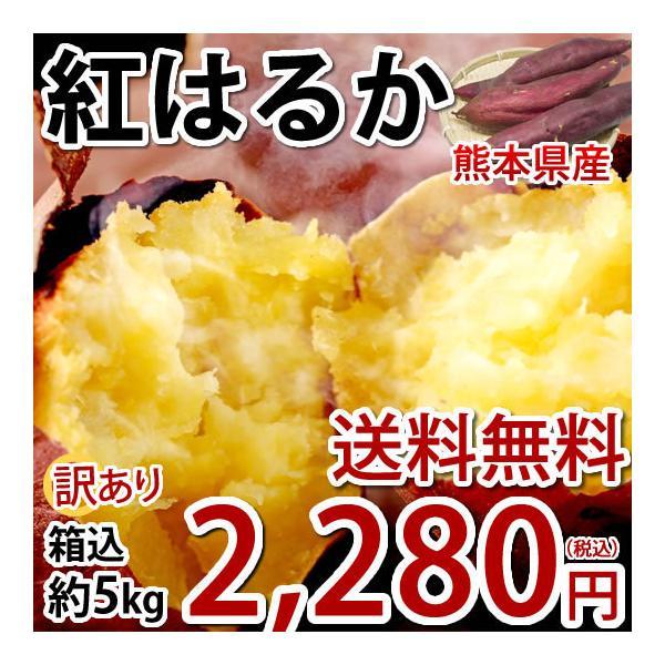 さつまいも 紅はるか 訳あり 5kg 箱込(内容量4kg+補償分500g) 送料無料 べにはるか 熊本県産 サツマイモ 紅蜜芋 焼き芋 芋 いも