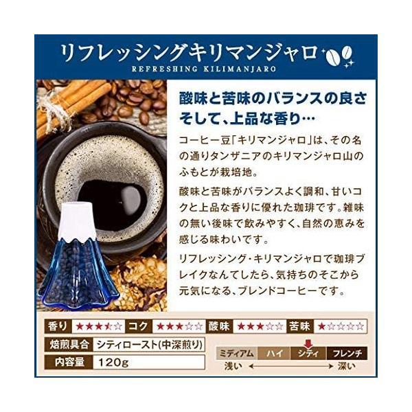澤井珈琲 コーヒー 専門店 コーヒー豆 リフレッシングキリマンジャロ 120g 山型 コーヒーギフト|football-item|05