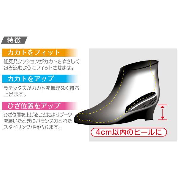 【取寄】かかと用 インソール Style solution スタイルソリューション カカトフィット&アップ 厚さ2.5cm 女性用フリー|footone|03