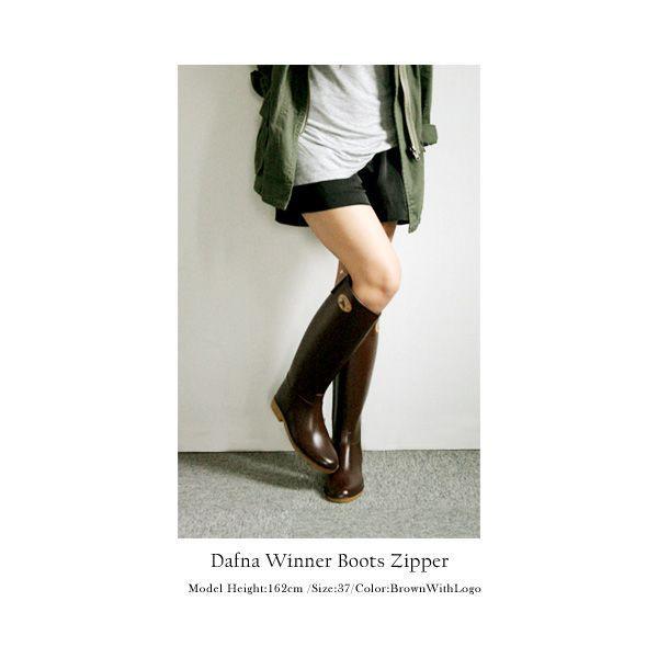 レインブーツ Dafna ダフナ レディース ラバーブーツ 長靴 Harper Winner Boots Zipper ラッピング不可 一部箱つぶれ・破れあり|footone|06