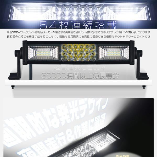 送料無 162W LEDワークライト LED作業灯 LED投光器 PL保険 サーチライト 54枚チップ 集光&投光両立 2in1タイプ アルミ合金 IP67 1年保証 1個 tc1 force4future 03