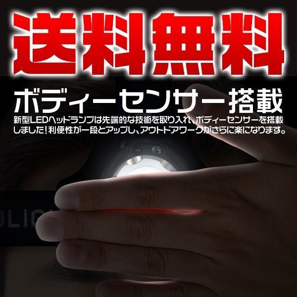 特売 LEDヘッドランプ 3モード 5200lm 懐中電灯 ヘッドライト 充電式 CREE ボディーセンサー 2000倍ズーム 送料込み 6ヶ月保証 1個YXD force4future 02