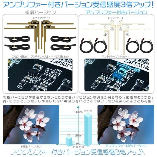 地デジチューナー 車載用 高性能 1080P 4×4 第四代 HDMI AV ダブル出力 アンテナフルセグ ワンセグ 1年保証 送料無料|force4future|02