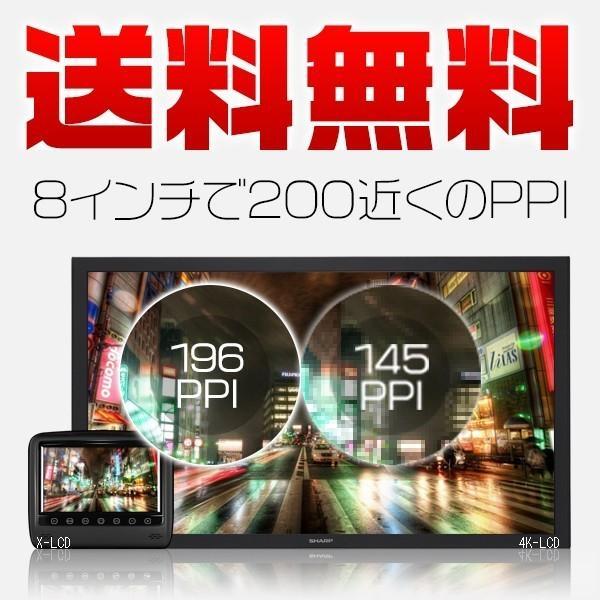 次世代 ヤフー独占販売 送料無料 8インチ ヘッドレストモニター WXGA+X-LCD AV レザー モケット ブラック 2台 1年保証|force4future|05