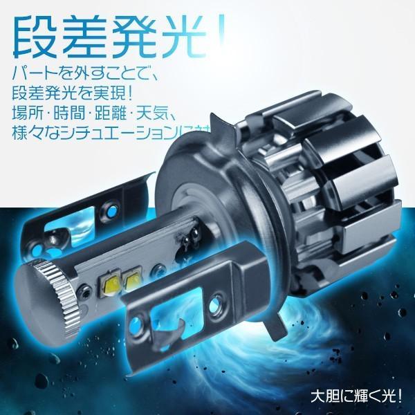 3%クーポン 送料無料 LEDヘッドライト フォグランプ チップ二面搭載 X-LED CC H1 H4 H7 H8 H11 HB3 HB4 5500k 9600lm 多種類選択可 2個v force4future 03