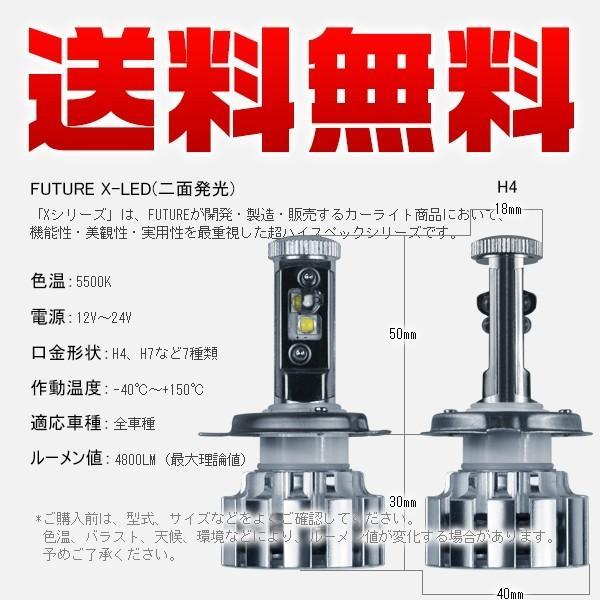 3%クーポン 1灯 バイク専用 送料無料 X-LED CC H4 H7 PH7 PH8 LEDバルブ 二面発光 変色可能 最強の照射距離 多段発光 v force4future 04