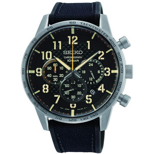セイコー腕時計メンズクロノグラフブラックSSB367P1SEIKO並行輸入品