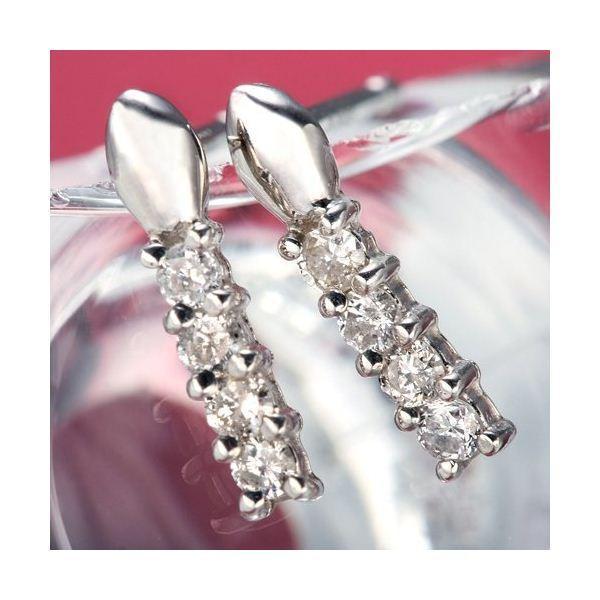 ダイヤモンド ピアス プラチナ Pt900 0.1ct ダイヤピアス 8石 0.1カラット Hカラー I1クラス ブリンデルピアス 直送品/代引不可