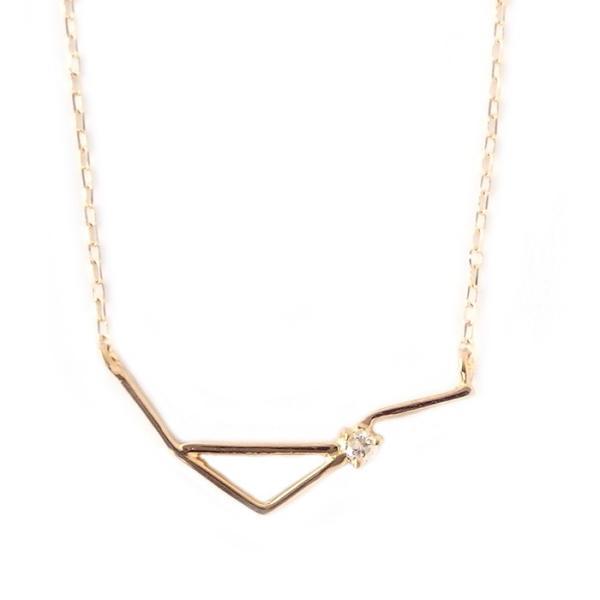 12星座 ダイヤモンド ネックレス 天秤座 てんびん座 一粒 0.01ct K18 ゴールド ダイヤネックレス 大人女子 かわいい シンプル ペンダント