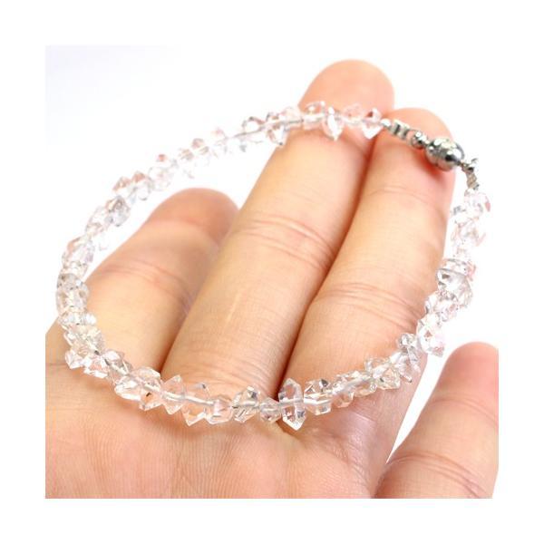 高品質 ハーキマーダイヤモンド ブレスレット〔 天然石 パワーストーン アクセサリー 〕