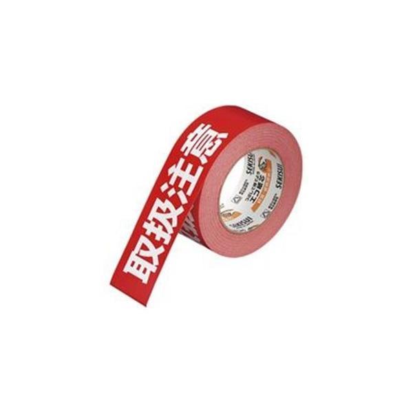(まとめ)セキスイ 荷札テープ KNT03T 取扱注意〔×10セット〕