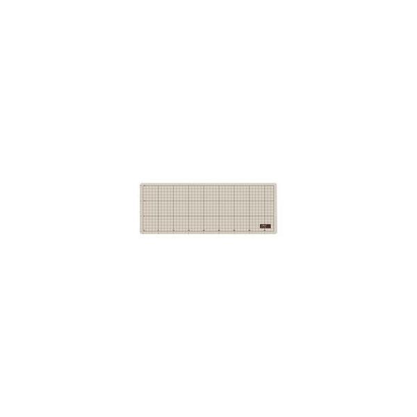 (まとめ)オルファ カッターマット 206B A3グレー/茶 ハーフ〔×5セット〕