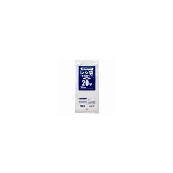 (まとめ)ジョインテックス レジ袋(省資源タイプ)No.20 100枚 B720J〔×30セット〕