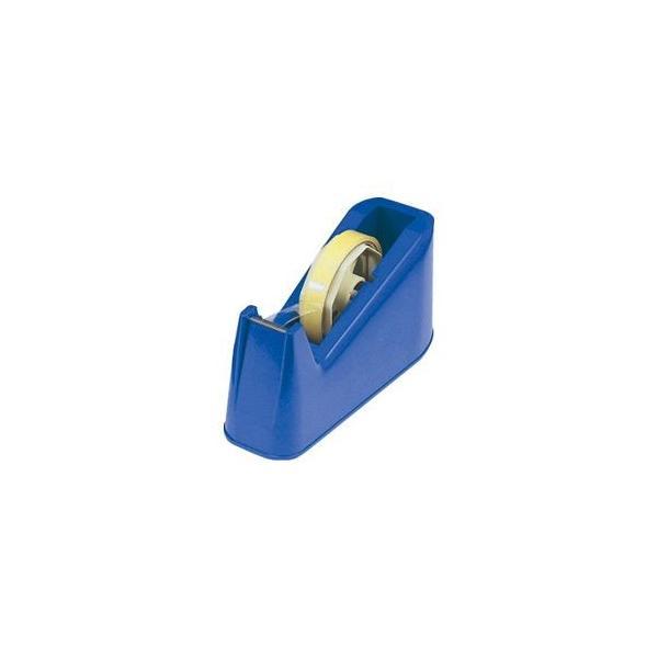 (まとめ) テープカッター ブルー 〔×10セット〕