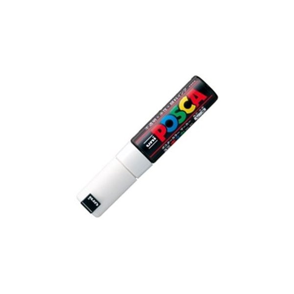 (業務用200セット) 三菱鉛筆 ポスカ/POP用マーカー 〔太字/白〕 水性インク PC-8K.1