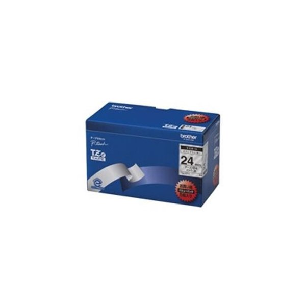 (業務用5セット) brother ブラザー工業 文字テープ/ラベルプリンター用テープ 〔幅:24mm〕 5個入り TZe-151V 透明に黒文字