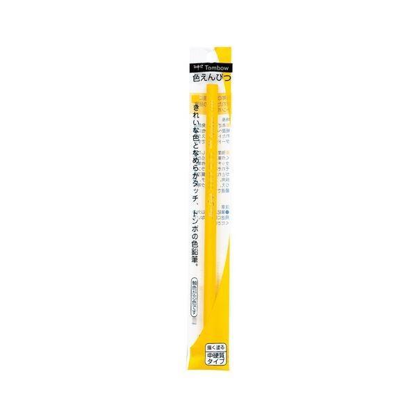 (まとめ) トンボ鉛筆 色鉛筆1500黄 5本組〔×20セット〕