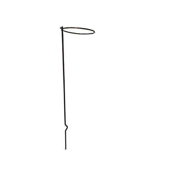 〔4本組〕 プランター支柱 リング径φ15cm×高さ60cm スチールワイヤー(黒) 日本製 171 花支柱ベル 〔園芸 ガーデニング用品〕