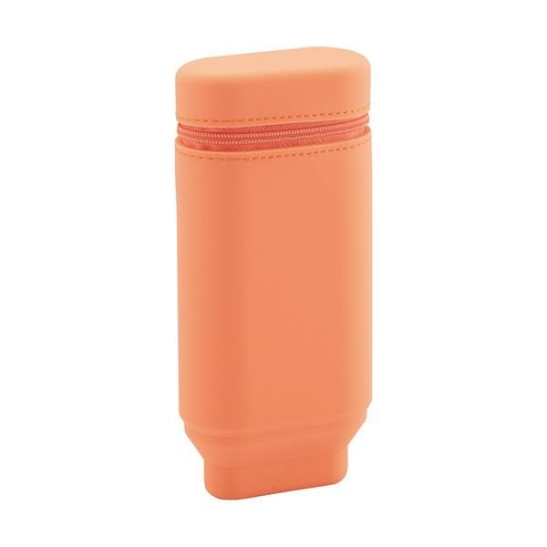 (まとめ) リヒトラブスタンドペンケース(オーバルタイプ) オレンジ A-7694-4 1個 〔×10セット〕
