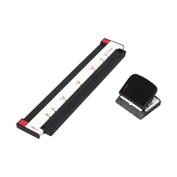 (まとめ)カール事務器 ゲージパンチ ブラック GP-2630-K 1台〔×2セット〕