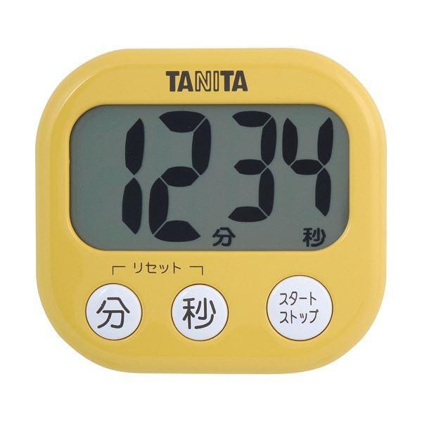 (まとめ)タニタ でか見えタイマーマンゴー イエロー TD-384MY 1個〔×10セット〕
