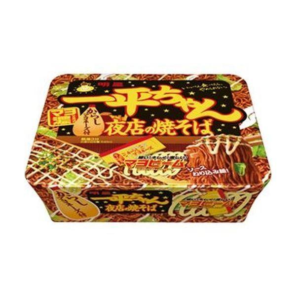 (まとめ)明星食品 一平ちゃん 夜店の焼きそば135g 1ケース(12食)〔×4セット〕