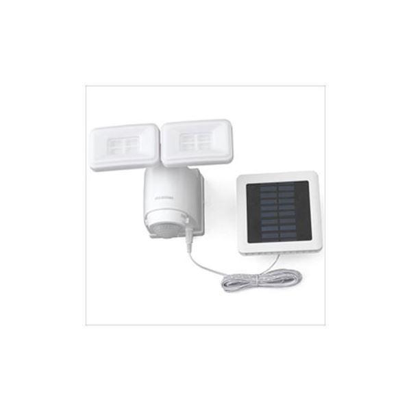 アイリスオーヤマ ソーラー式LED防犯センサーライト ホワイト 1個