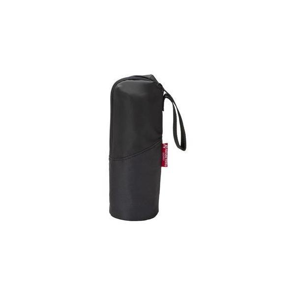〔48個セット〕 ボトルホルダー 〔600ml用 ブラック〕 ペットボトル・ステンレスボトル対応 コンパクト収納 ウォーモ
