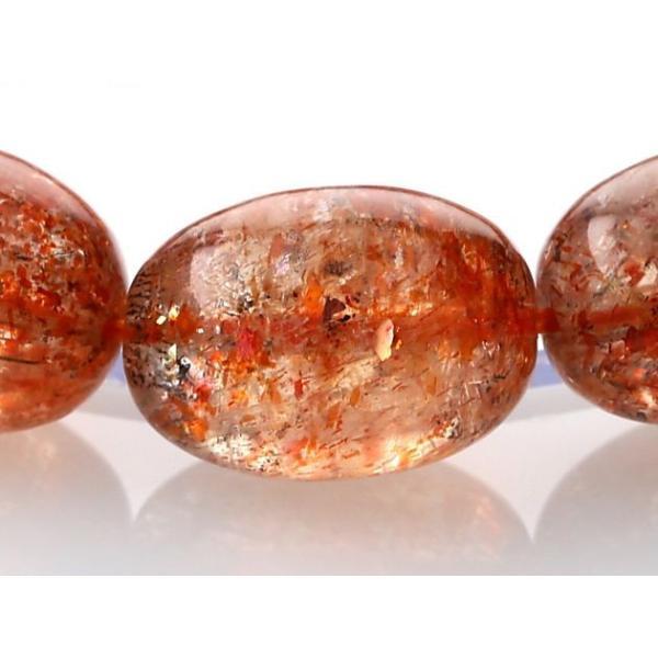 最高級(5A) サンストーン イレギュラーブレスレット  No.7 パワーストーン 天然石