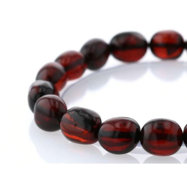 最高級(5A) 天然アンバー(琥珀) イレギュラーブレスレット  No.4 パワーストーン 天然石