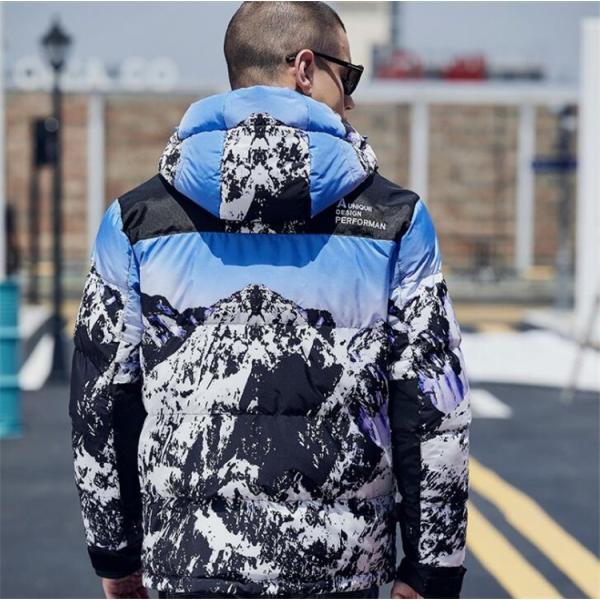 ダウンジャケット メンズ 中綿コート マウンテンパーカー アウトドア ブルゾン 厚手フード付き アウター 防寒|forestjapan|02