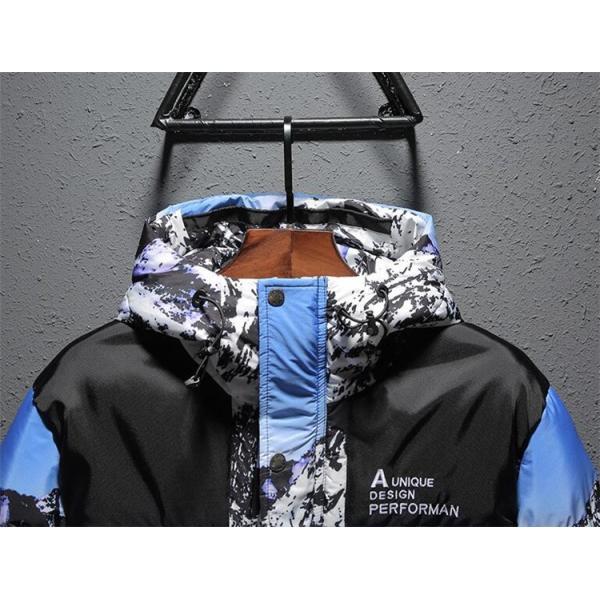 ダウンジャケット メンズ 中綿コート マウンテンパーカー アウトドア ブルゾン 厚手フード付き アウター 防寒|forestjapan|04