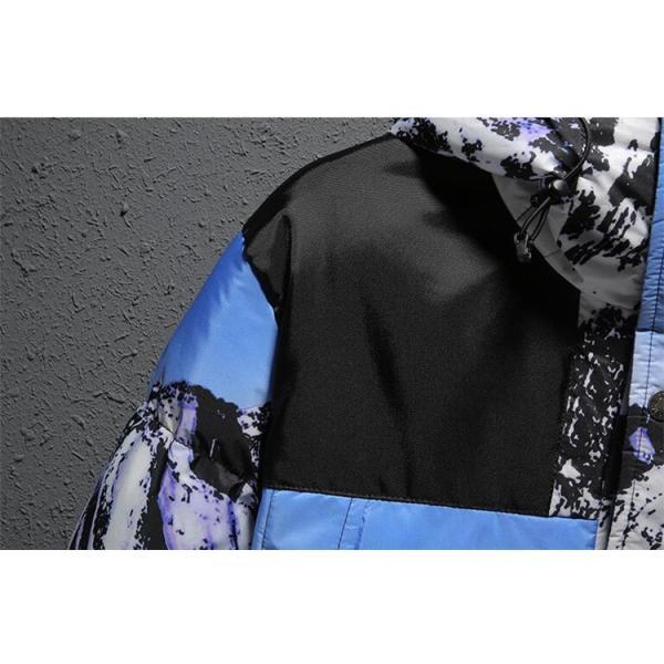 ダウンジャケット メンズ 中綿コート マウンテンパーカー アウトドア ブルゾン 厚手フード付き アウター 防寒|forestjapan|05