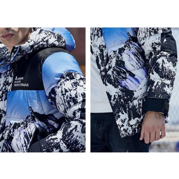 ダウンジャケット メンズ 中綿コート マウンテンパーカー アウトドア ブルゾン 厚手フード付き アウター 防寒|forestjapan|06