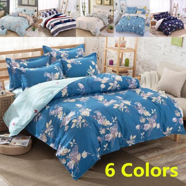 シーツ セット 枕カバー  布団カバー ベッド用品 寝具 4点 セットセミダブル シングル 綿 コットン |forestjapan