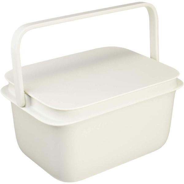 ちょうどいい大きさのフタ付きスクエア型のバケツ ホワイト (Marna/マーナ)きれいに暮らす 蓋付きバケツ 漬け置き洗い 桶 角型 収納 洗濯物