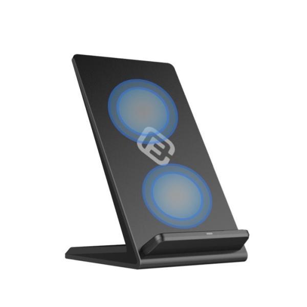 ワイヤレス充電器 iPhone 急速 スタンド ワイヤレス充電 急速充電 Qi 2コイル 無線充電器 Android iPhone SE iPhone11 11Pro ProMax XR XS 40s FIS1 forties 16