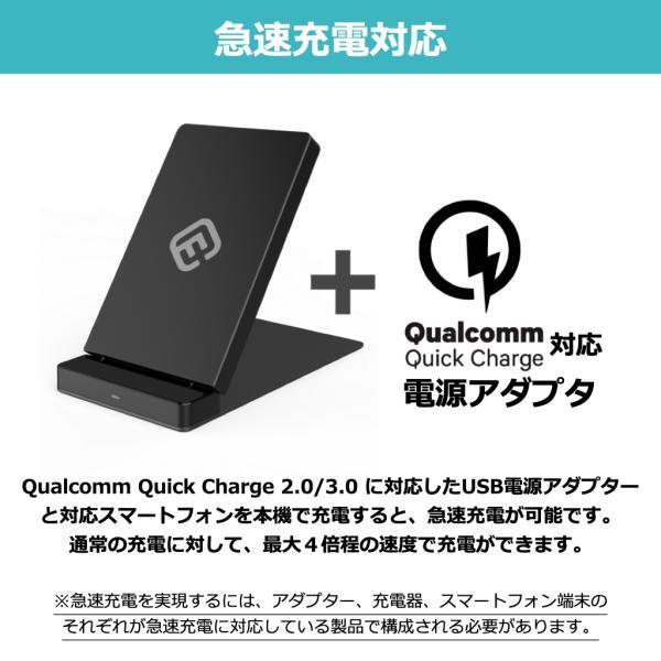 ワイヤレス充電器 Qi 充電器 急速 折りたたみ iPhone Android 持ち運び 急速充電 置くだけ充電 2コイル iPhone11 11Pro ProMax XR XS 40s FOS1 forties 04