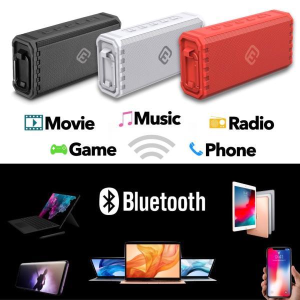 アウトレット Bluetoothスピーカー ブルートゥース 防水 高音質 重低音 おしゃれ 大音量 SD iphone ワイヤレス スマホ ポータブル 40s HW1|forties|11