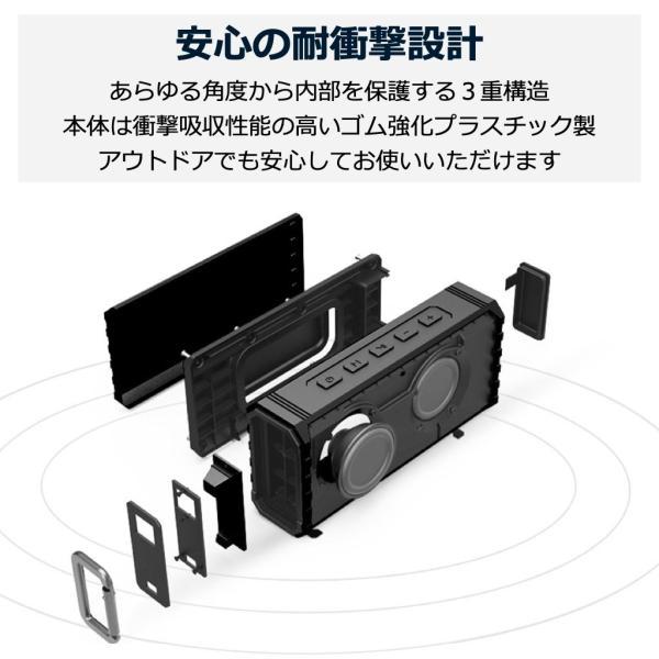 アウトレット Bluetoothスピーカー ブルートゥース 防水 高音質 重低音 おしゃれ 大音量 SD iphone ワイヤレス スマホ ポータブル 40s HW1|forties|13