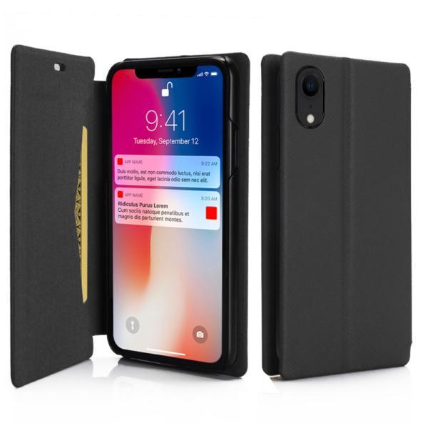 ポイント消化 iPhone XR ケース 手帳型 耐衝撃 スタンド機能 薄型 スタンド機能 カード収納ポケット Qi対応 シンプル おしゃれ iPhoneXR スマホケース 40s|forties|08